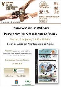 cartel PONENCIA AVES SIERRA NORTE-Alanis