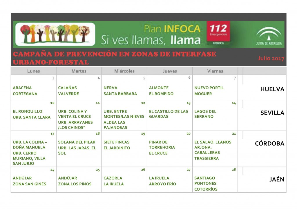 CALENDARIO CAMPAÑA INTERFASE ALGAKON