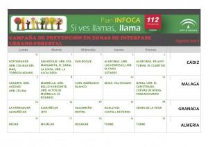 Algakon cronograma campaña sensibilización  incendios Agostos