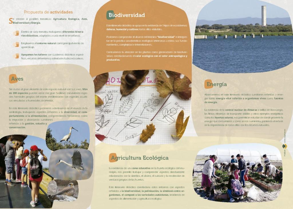 triptico programa educacion ambiental saucedilla ALGAKON